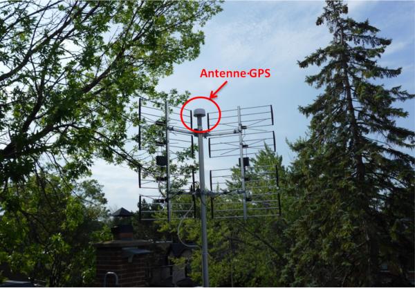 Antenne GPS du serveur NTP - ve2ymm.com